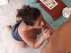 Plumber fucks the milf after fixing the sink tubes