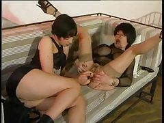 Two kinky sluts fist and dildo fuck fun tubes