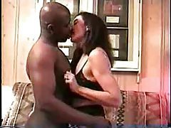 Wife enjoys a big black cock and hubby films tubes