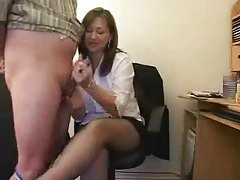 Secretary gets rough with her handjob tubes