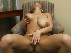 Busty girl nude and rubbing clit tubes