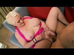 Granny in pantyhose fucked from behind tubes