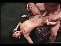 Polynesian girl sucking dick and fucking for facial tubes