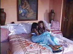 Young Indian babe in three different scenes tubes