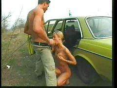 They drive to the country and fuck a blonde slut tubes