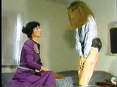 Lady of the house spanks a naughty girl tubes