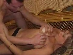 Naughty granny needs his big cock inside her tubes