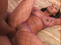 Stupendous chick with black ass fucked tubes