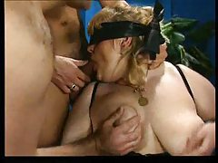 Fatty gangbanged and fisted and cummed on tubes