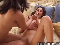 Two girls explore sexy dildo play together tubes