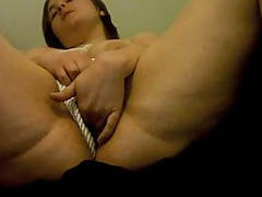 Chick drives fingers deep into her pussy tubes