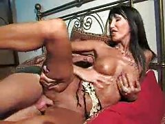 Brunette milf taking dick in her pussy hole tubes