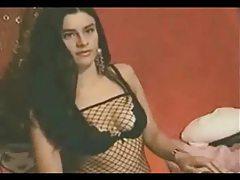 Great webcam body in black lingerie tubes