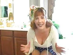 Tasty lady talks during a striptease tubes