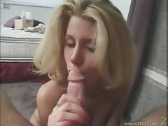 Chick on her knees giving a passionate blowjob tubes