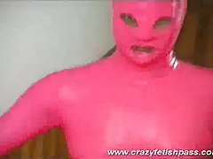 Hot rubber babe pink costume tubes