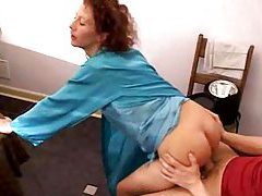 He takes the satin milf in her kitchen tubes