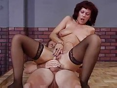 Mature chcik stripping and having sex with young man tubes