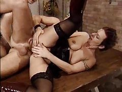 Mature lesbians fist and welcome a young man tubes