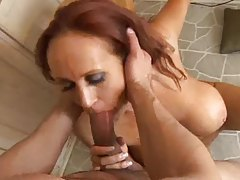 Sultry redheaded milf trying out anal sex tubes
