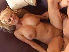 Gorgeous blonde with large breasts fucked tubes