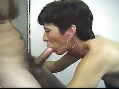 Mature uses a toy and he fucks her face tubes