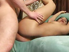 Black slut enjoying three white cocks tubes