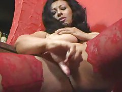 Wicked busty milf in stockings playing tubes