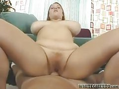 Big titty redhead with matching pussy hair tubes