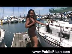 Black girl with hot big tits playing tubes
