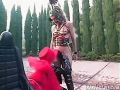 Pony play girls outdoors submitting tubes