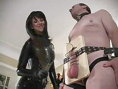 It is all about pain for his submissive balls tubes