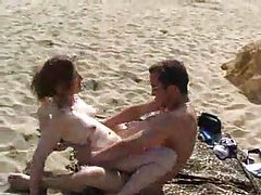 Babe stuffed with cock on public beach tubes