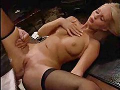 See a babe blowing meat in gloves tubes