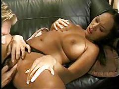 Busty Asian gives a long wet blowjob tubes