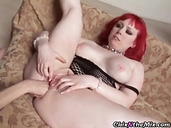 Naughty chicks get into hot pussy eating tubes