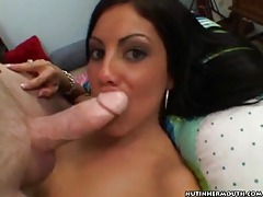 A hot blowjob and cum swallowing tubes