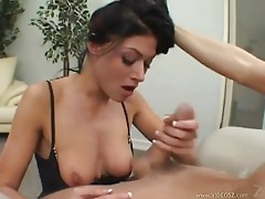 Chick gets her face fucked and looks great tubes