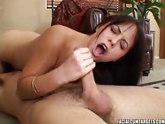 Sweet girl with nice tits sucks cock tubes
