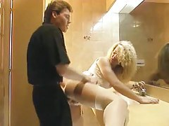 Girl fucked in the ass in the bathroom tubes