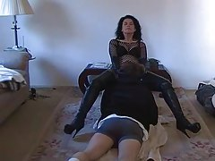 Dominant wife makes him worship her pussy tubes