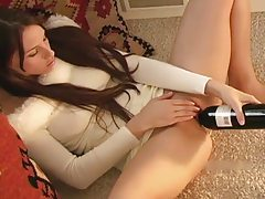 Bottle fuck with Celeste Star in sweater tubes