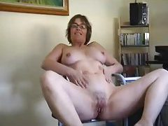 Mature in glasses teases and takes bone tubes