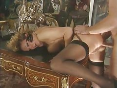 Mature in stockings fucked in her asshole tubes