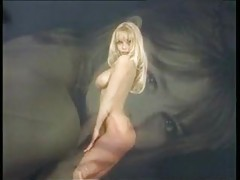 Solo with a sexy blonde centerfold tubes