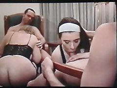 Retro swinger group movie in a hotel tubes