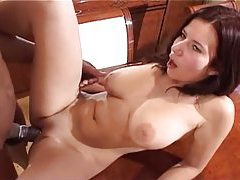 Black guy loves those curves and shaved pussy tubes