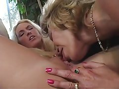 Young and mature blondes have fun tubes