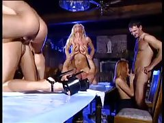 An orgy with hotties that love cock and cum tubes