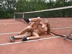Tennis girl fucked by a horny athlete tubes